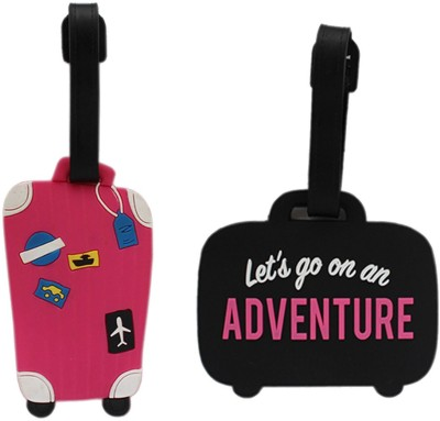Tootpado Luggage Tag Adventure With Suitcase - Pack of 2 (CLNT32) - Bag Adventure Tags Luggage Tag(Multicolor)