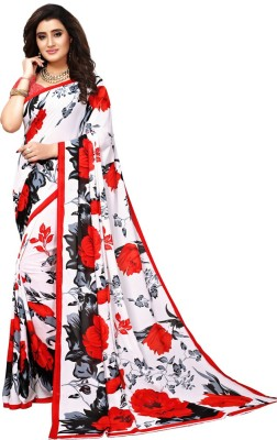 Lake prints Striped Fashion Tussar Silk Saree(Red, Gold)