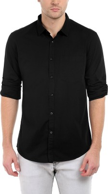 Trendz Deeksha Men Solid Casual Black Shirt