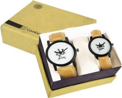 R P S Fashion New King & Q ueen Collection Combo Pack Of 2 Watch  - For Men