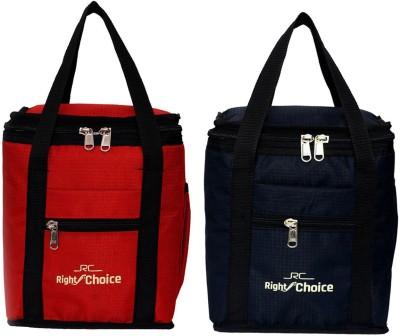 Right Choice 2006 Stylish Tuff Lunch Bgas Black+Red (Nursery/Play School) Waterproof Lunch Bag(Red, Black, 1 L)