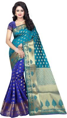INDIAN BEAUTIFUL Self Design, Paisley Banarasi Poly Silk Saree(Multicolor)