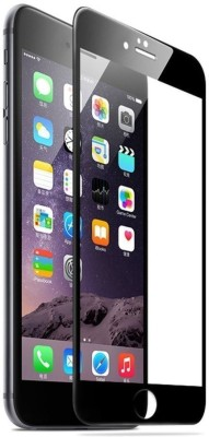 wrapitup Edge To Edge Tempered Glass for Apple I Phone 7 5D Hard Tempered Glass/Screen Protector (Black)(Pack of 1)