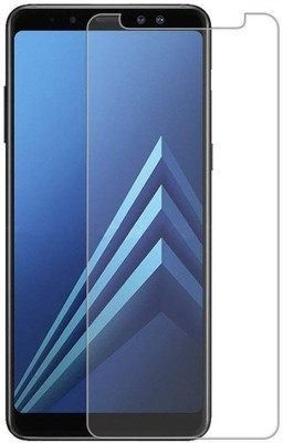 Snoogg Tempered Glass Guard for Snoogg Pack Of Ten Clear Tempered Glass Screen Protector [HD View] For Samsung Galaxy A8 2018(Pack of 10)