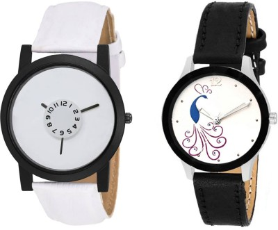 skmi 124 multicolor leather strap party wear ~ Formal ~ Casual Combo Of Two For Men And Women Watch  - For Boys & Girls