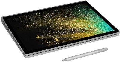 Microsoft Surface Book 2 Core i7 8th Gen - (8 GB/256 GB SSD/Windows 10 Pro/2 GB Graphics) 1832 2 in 1 Laptop(13.5 inch, Silver, 1.64 kg)