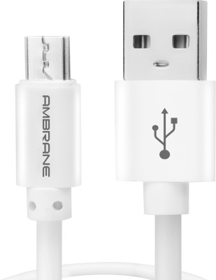 Ambrane ACM-1 1m 1 m Micro USB Cable(Compatible with Tablets, Mobiles, White, One Cable)
