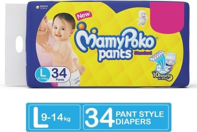 MamyPoko Pants Standard Diapers - L(34 Pieces)