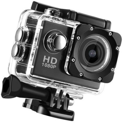 ALONZO 1080P Action Camera 2-inch LCD 170 Degree Wide Angle Lens Sports and Action Camera(Black 12 MP) 1