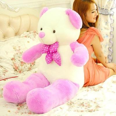 Skylofts Imported Stuffed Soft 80cm Double Color Teddy Bear Birthday Valentines Gift   70 cm Pink Skylofts Soft Toys