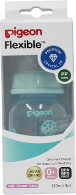 Pigeon Peristaltic Clear Nursing Bottle Rpp 120Ml (Blue) Abstract - 120 ml(Multicolor)