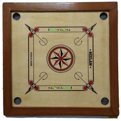 imtion Carom Board Rastic Color With Coin Big Size 28 x 28 Inchs 60 cm Carrom Board(Multicolor)