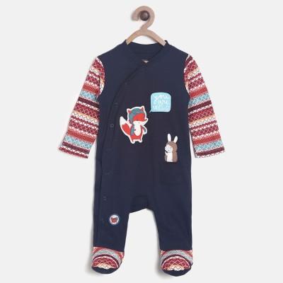7873a7de7e7e 33% OFF on Mini Klub Baby Boy s Dark Blue Sleepsuit on Flipkart ...
