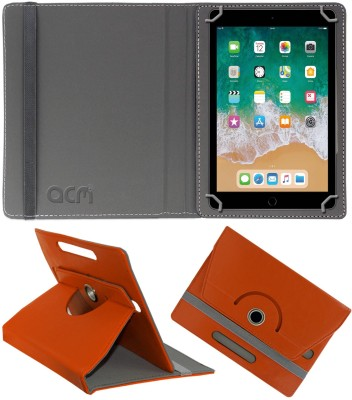 ACM Flip Cover for Apple iPad 6th Gen 9.7 inch(Orange, Cases with Holder)