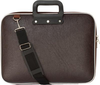 BumBart Collection 16 inch 15.6 Laptop Messenger Bag Black