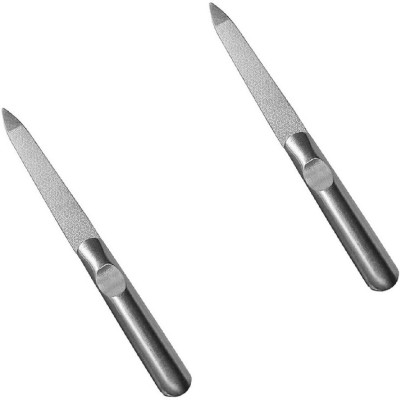 sweetpea SET OF 2 Metal Double Sided Nail File Stainless Steel Manicure Pedicure Tools Files - Metal Nail File Men AND WOMEN Filer For Toenails Stainless Steel Fingernail Files(Set of 2) Flipkart