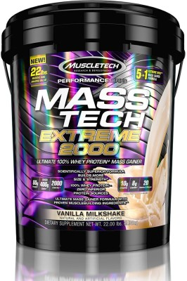 Muscletech Performance Series Tech Extreme 2000 Weight Gainers/Mass Gainers(9.98 kg, Vanilla Milkshake)