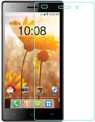 Mobileshoppy Tempered Glass Guard for Intex Aqua R4(Pack of 1)