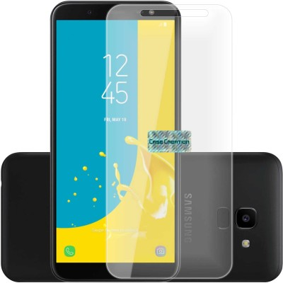 Case Designer Tempered Glass Guard for Samsung Galaxy J6(Pack of 1)