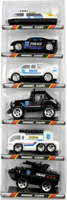 DealBindaas Police Set Of 6 Pcs Vehicles | Transport | Car | Ship | Tank | Jeep | City Fire | Free Wheel | Scale 1:64 | Kids Gift Toy | Dinky Model | Metal And Plastic Body(Multicolor)