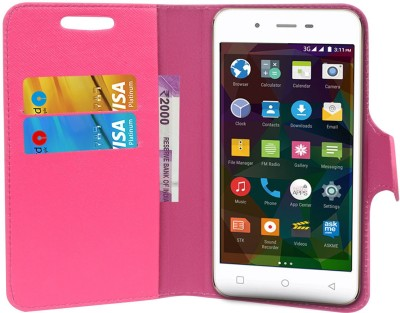 CHAMBU Flip Cover for xolo Q700s Plus(Pink, Dual Protection, Artificial Leather)