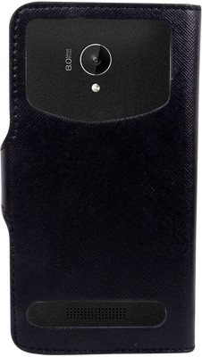 CHAMBU Flip Cover for LG Optimus L3 II E425(Black, Shock Proof, Artificial Leather)