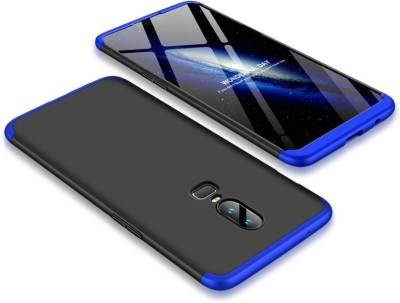 MPE Front & Back Case for OnePlus 6(Black, Blue, Shock Proof, Plastic)