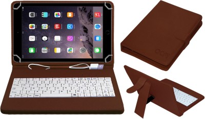 ACM Keyboard Case for Apple iPad Air 2 9.7 inch(Brown, Cases with Holder)