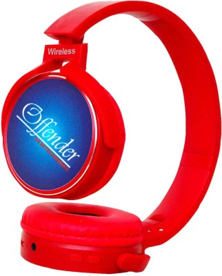 OFFENDER EXTRA BASS RED COLOR STYLISH SPEAKER BLUETOOTH SPEAKER Bluetooth Headphone(Red, Over the Ear)