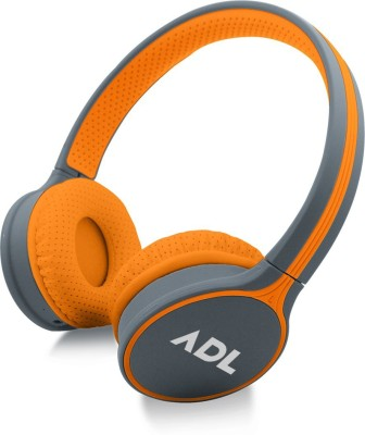 ADL C 180 Bluetooth Headset with Mic(Orange, On the Ear)
