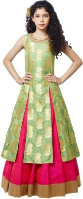 e97bf72932cc47 Wommaniya Impex Girl's Lehenga Choli Fusion Wear, Ethnic Wear Embellished,  Embroidered Lehenga Choli(