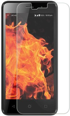 Accessories Bucket Tempered Glass Guard for Lyf Flame 7s(Pack of 1)