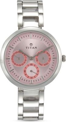 Titan NF2480SM05 Purple Analog Watch   For Women Titan Wrist Watches