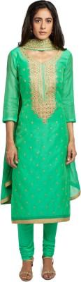 Soch Chiffon Embroidered Salwar Suit Dupatta Material(Un-stitched)