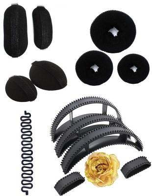 Fully Party Wear Combo Of 14 Pcs Hair Accessories For Women Wedding, Black Hair Accessory Set(Black) Flipkart