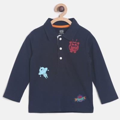 Mini Klub Boys Printed Cotton T Shirt(Dark Blue, Pack of 1) Flipkart