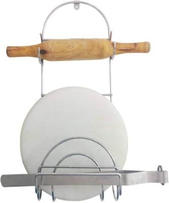 Amol Kitchen Rack Stand Stainless Steel Kitchen Rack(Silver)