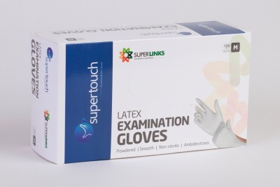 Supertouch sup001 Latex Examination Gloves(Pack of 100)