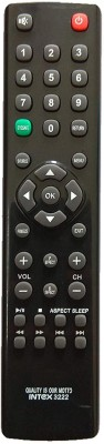 LipiWorld 3222 INTEX LCD LED TV Universal Remote Control Compatible for LED LCD Remote Controller(Black)
