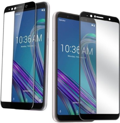RidivishN Tempered Glass Guard for Asus Zenfone Max Pro M1 ,2.5D Curved Edge to Edge Tempered,Pack of 2(Pack of 2)