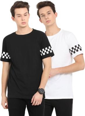 Nailed It Printed Men Round Neck White, Black T-Shirt(Pack of 2) Flipkart