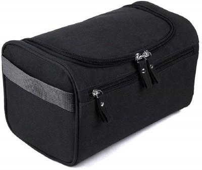 Styleys Hanging Fabric Travel Toiletry Bag Organizer and Dopp Kit storage Bag Travel Toiletry Kit(Black)