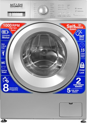 Mitashi 7 kg Fully Automatic Front Load Washing Machine with In-built Heater Silver(WMFA700K100 FL) (Mitashi)  Buy Online