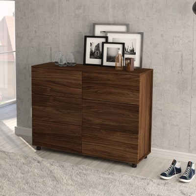 The Attic Solid Wood Free Standing Sideboard(Finish Color - Honey)