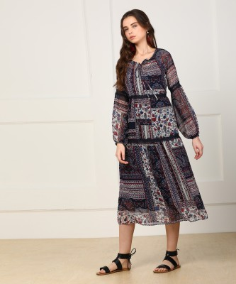 Only Women Gathered Multicolor Dress