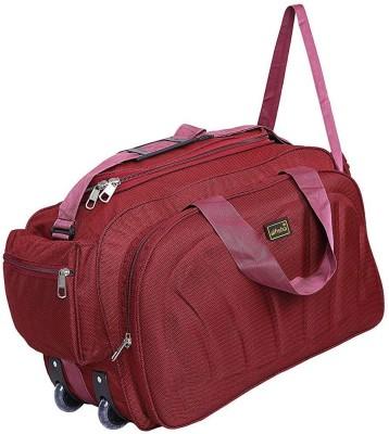 alfisha  Expandable  DUF 15 Red Travel Duffel Bag Red