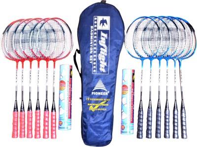 Pioneer INFLIGHT BADMINTON Multicolor Strung Badminton Racquet(G4 -3.25 Inches, 1.8 g)
