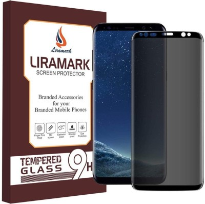 LIRAMARK Edge To Edge Tempered Glass for Samsung Galaxy S8 Plus Anti Spy 9H Privacy 5D Full Cover(Pack of 1)
