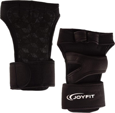 JoyFit Weightlifting Gloves for Gym, Powerlifting, Workout, Weightlifting, Crossfit, Fitness, for Men and Women Gym & Fitness Gloves (L, Black)