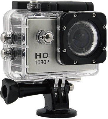 Suroskie Action camera 1080P 12MP Sports Waterproof Action Camera Sports and Action Camera(Black, 12 MP)